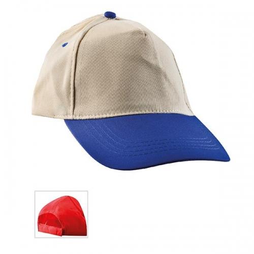 Çift Renkli Bej - Mavi Şapka