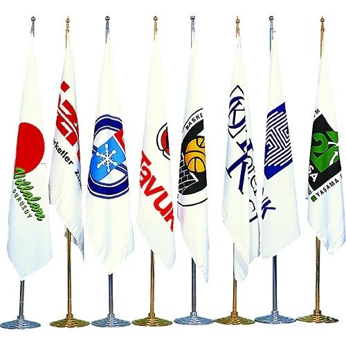 Logolu Makam Bayrak Simsiz