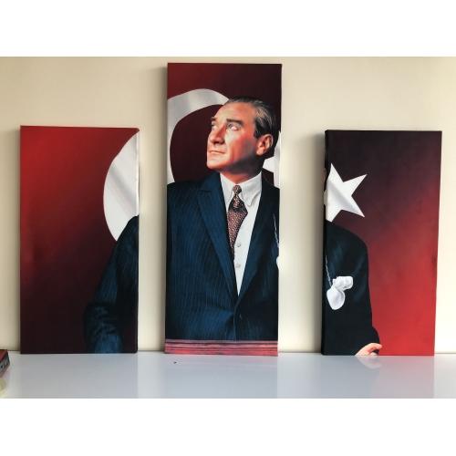 3 Parçalı Atatürk Tablo