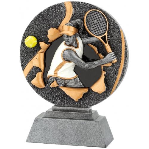 3D Figür 12x16 Bayan Tenis