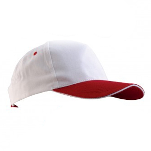 Çift Renkli  Çift Panelli Kırmızı Şapka