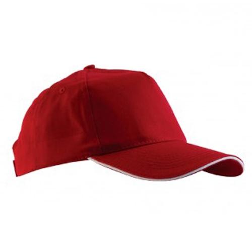 Kırmızı Çift Panelli Şapka
