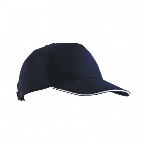 Çift Panelli Siyah Şapka