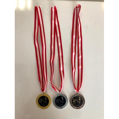 İthal Madalya 7cm Sarı,Gümüş,Bronz