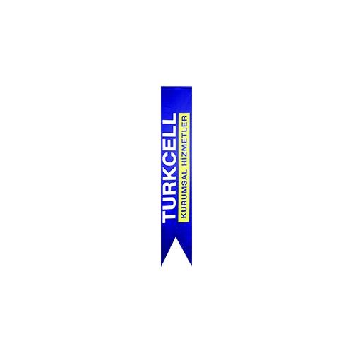 Logolu Kırlangıç Bayrak 50x200