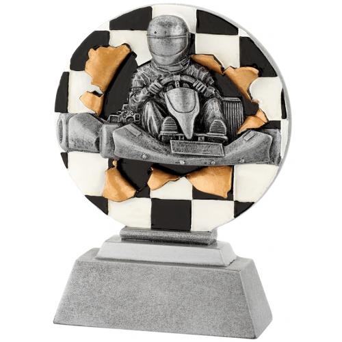 3D Figür 9,5x13,5 Yarış Arabası