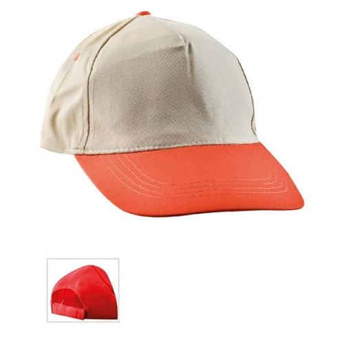 Çift Renkli Bej - Turuncu Şapka