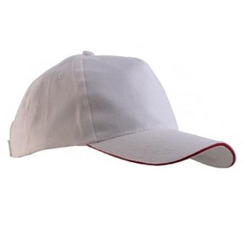Beyaz Çift Panelli Şapka